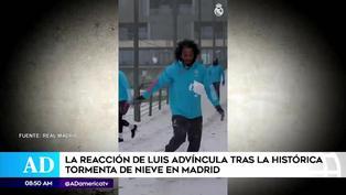 Así reaccionó Luis Advíncula al ver nieve en la ciudad de Madrid