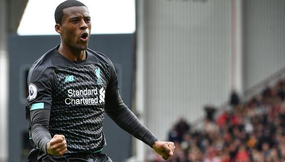 Georginio Wijnaldum tiene contrato con el Liverpool hasta mediados de 2021.  (Foto: AFP)