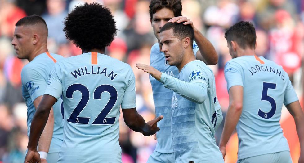 Chelsea venció 3-0 a Southampton por la Premier League.