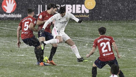 Real Madrid enfrentó al Osasuna por LaLiga en Pamplona. (Foto: AFP)