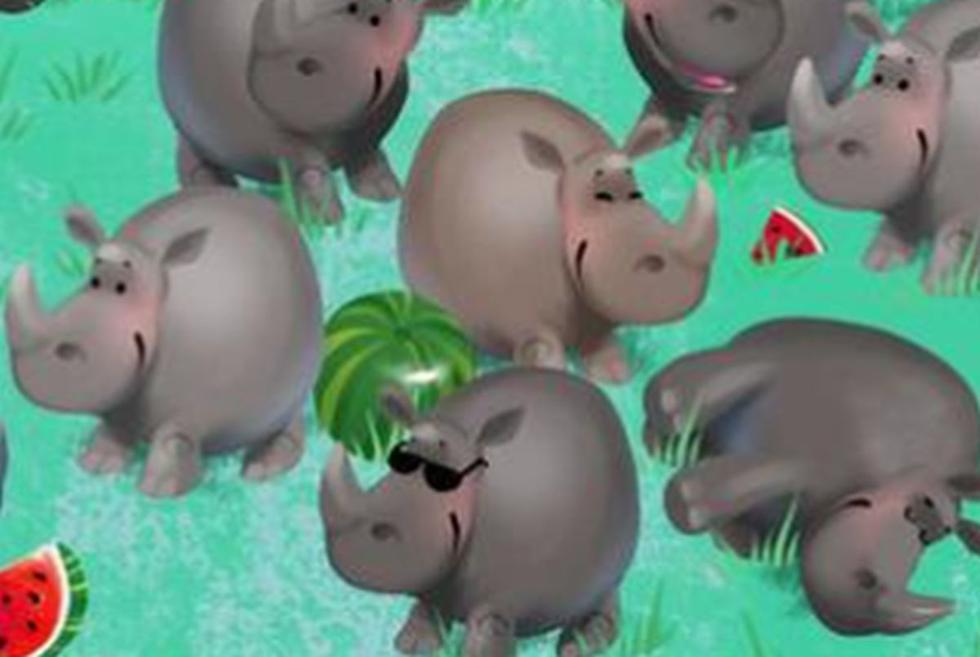 Halla al hipopótamo oculto entre los rinocerontes de este reto que ya es tendencia (Foto: Facebook).