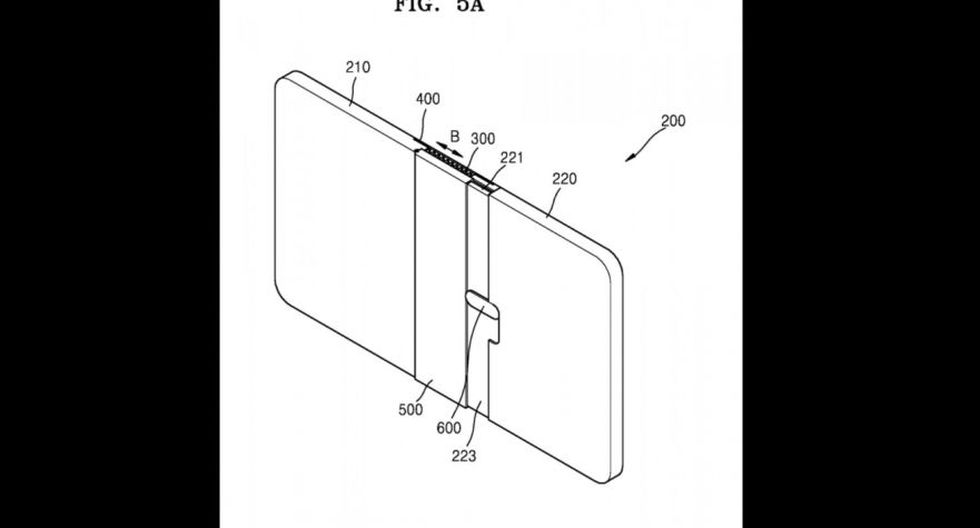 Samsung | Patente del nuevo diseño de pantalla plegable