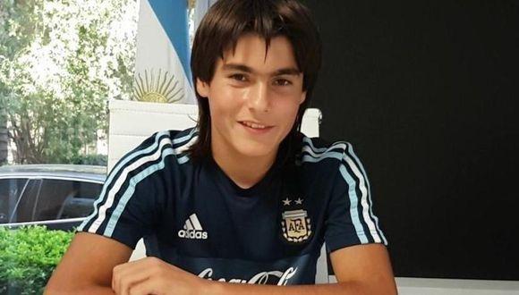 Luka Romero ya ha jugado por las menores de la selección Argentina. (Foto: AFA / ESPN)