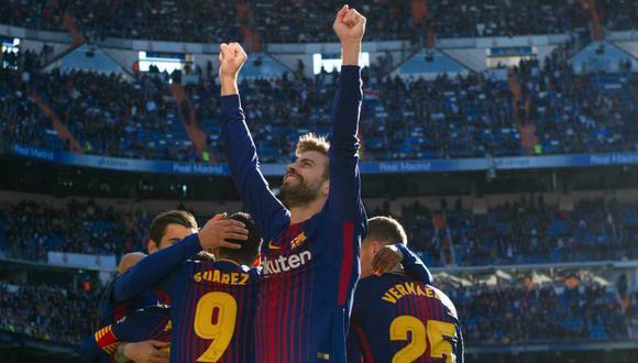 Las frases de Gerard Piqué sobre ganar en el Santiago Bernabéu, estadio del Real Madrid.  (Foto: AFP)