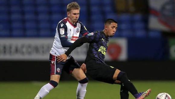 Rodrigo Vilca llegó a Newcastle en octubre de este año procedente de Deportivo Municipal. (Fuente: Newcastle)