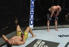 ¡Árbitro, por favor! Peleador de UFC estuvo a punto de ser descalificado por tres golpes ilegales en la isla de Abu Dhabi [VIDEO]