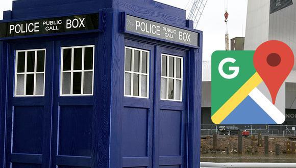 ¿Quieres visitar el TARDIS, la máquina del tiempo de la serie Doctor Who? Este es el truco de Google Maps que puedes realizar. (Foto: Google)