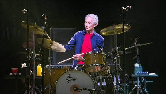 Charlie Watts, batería de los Rolling Stones, murió a los 80 años. (Photo by SUZANNE CORDEIRO / AFP).