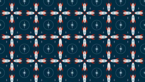 Tienes que hallar los 3 cohetes diferentes al resto en la imagen. (Foto: Noticieros Televisa)