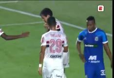 Doblete de Pablo Felipe: colocó el 5-1 en el Sao Paulo vs. Binacional