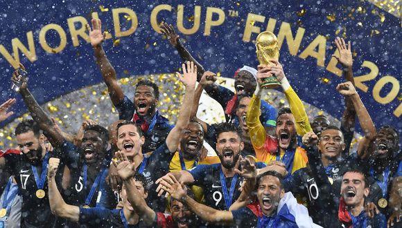 Francia ganó el Mundial Rusia 2018 tras vencer por 4-2 a Croacia. (AFP)