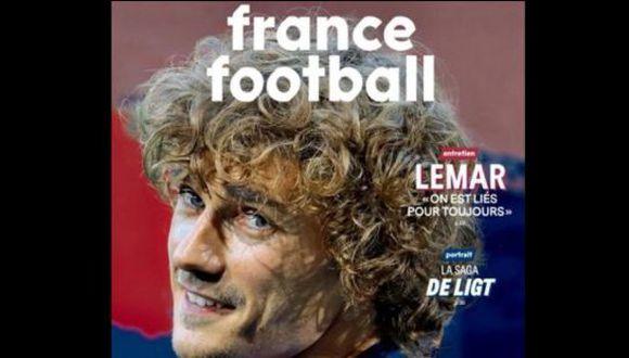 Griezmann llegó por 120 millones de euros al Barcelona, procedente del Atlético de Madrid. (France Football)