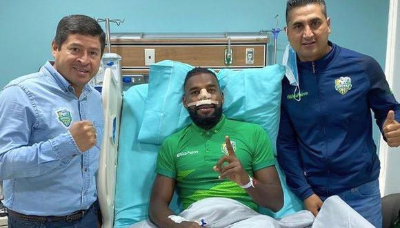 Achilier sufrió fractura de tabique. (Foto: Orense)