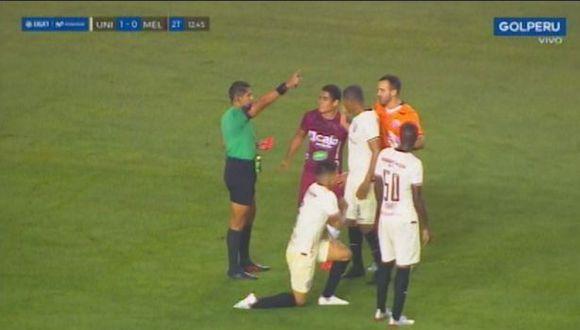 Irven Ávila fue expulsado por agredir a Armando Alfageme. (Captura)