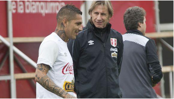 Ricardo Gareca manifestó su admiración pro Paolo Guerrero. (Foto: GEC)