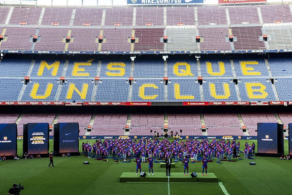 La alineación del Barcelona para la próxima temporada con sus fichajes y Messi. (Getty)