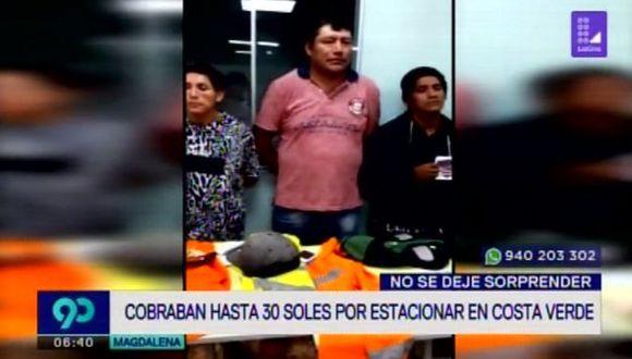 Seis detenidos por cobrar de manera ilegal estacionamiento a visitantes para exposición de Rally Dakar. (Captura: Latina)