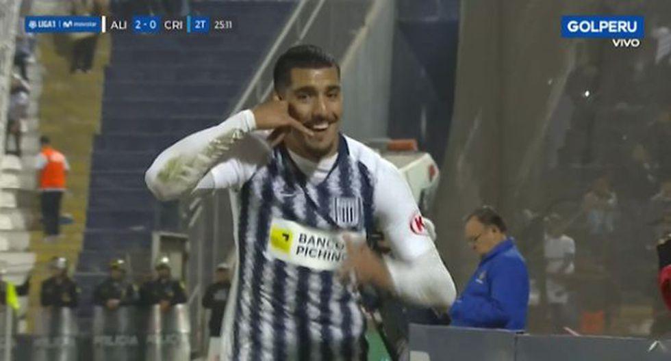 Adrián Balboa se reivindica y marca su primer gol en la Liga 1 . (Captura)