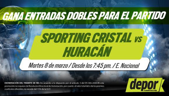 Sporting Cristal vs. Huracán: Depor te regala entradas dobles para el partido