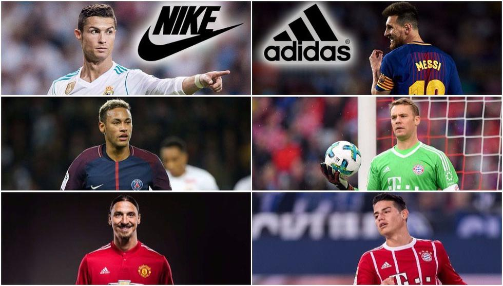 El once ideal de Adidas vs. el once ideal de los cracks de Nike. (Getty)