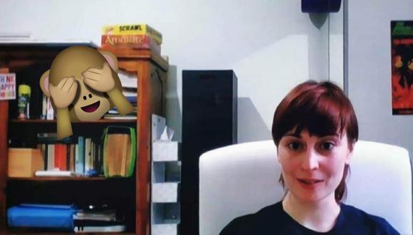 Un video viral mostró el descuido de una entrevistada al no quitar un artículo muy personal durante su aparición en un programa televisivo.   Crédito: Captura de TV / BBC Wales