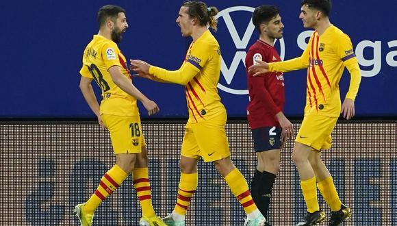 Barcelona vs. Osasuna se vieron las caras este sábado por la jornada 26 de LaLiga (Foto: Reuters)