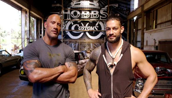 Roman Reigns y The Rock son parte de la familia samoana Anoa'i. (Foto: Twitter Wrestling Headlines)