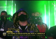 Totalmente renovado: así fue el ingreso de Andy Ruiz al ring para su pelea contra Arreola [VIDEO]