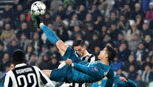 El gol de 'chalaca' de Cristiano Ronaldo a Juventus por la Champions League 2017-18- (Foto: AFP)