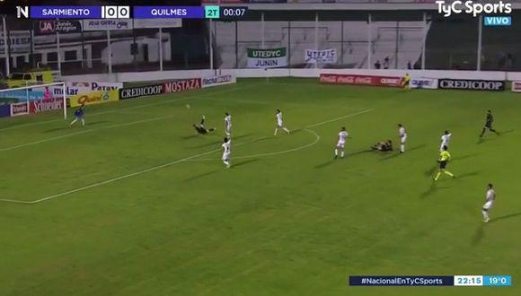 El gol de chilena en la Primera B de Argentina. (TyC Sports)
