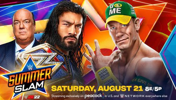 WWE SummerSlam 2021: día, hora y canal del megaevento con John Cena y Roman Reigns. (WWE)