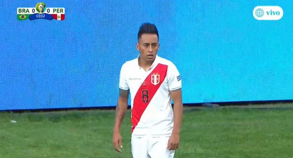 Luis Abram casi marca el primero gol en el duelo por la Copa América