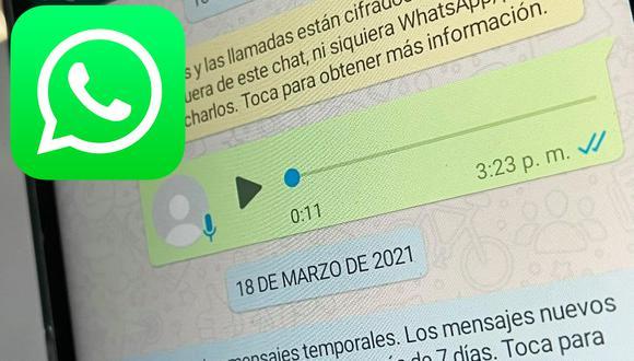 Guía de WhatsApp para oír los mensajes de audio a mayor velocidad de reproducción (Foto: MAG)