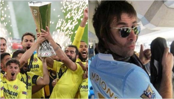 Liam Gallagher, hincha del Manchester City, festejó el título de Villarreal contra Manchester United. (Foto: EFE / Twitter)