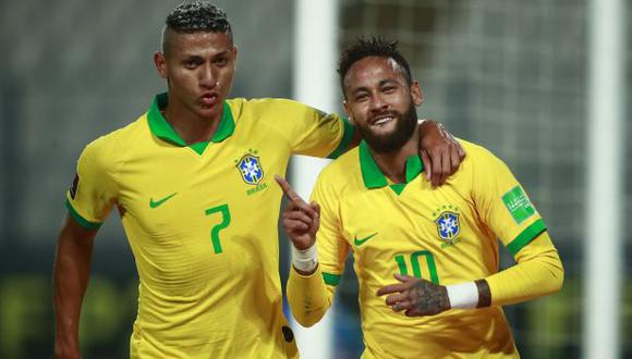 Richarlison va por el oro en Tokio; Neymar ya la ganó en Río 2016. (Foto: AFP)