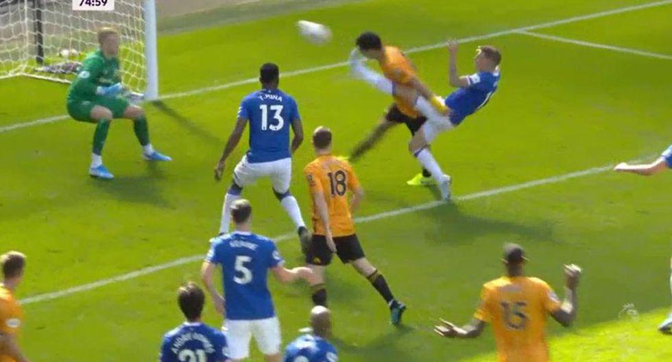 Raúl Jiménez puso el 2-2 en el Everton vs. Wolves. (Premier League)