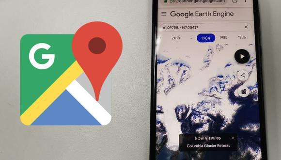 El impacto del cambio climático se ha hecho sentir en el mundo y Google Maps te muestra cómo ha cambiado Alaska en 30 años. (Foto: Google)