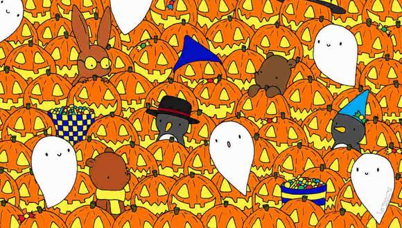 Debes ubicar la estrella entre las calabazas de Halloween. (Foto: dudolf.com)