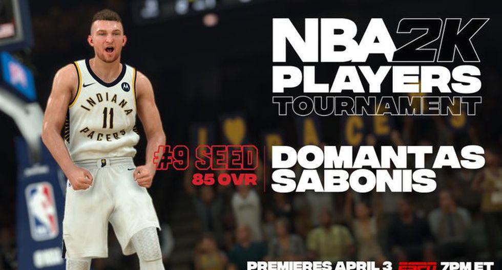 Domantas Sabons. (Foto: Twitter @NBA2K)
