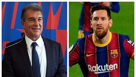Joan Laporta desea que Lionel Messi siga en el FC Barcelona hasta el 2024. (Foto: Twitter)