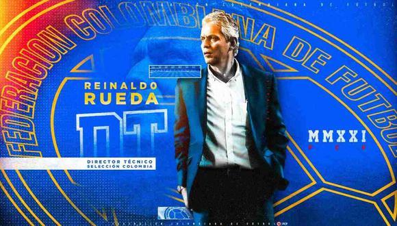 Reinaldo Rueda es el nuevo entrenador de la selección colombiana. (Foto: @FCFSeleccionCol)