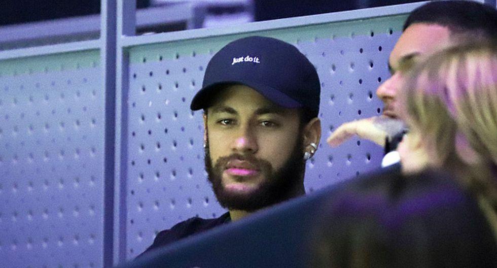 Neymar asistió a la Finales de Copa Davis en Madrid. (Getty)
