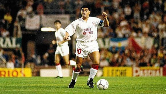 Diego Maradona jugó en Sevilla durante la temporada 1992-1993. (Foto: Agencias)