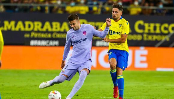 Gerard Piqué jugó los 90 minutos en el empate ante Cádiz. (Foto: Barcelona)