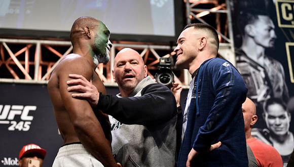 Kamaru Usman y Colby Covington pelearán en el T-Mobile Arena de Las Vegas. (Foto: Getty Images)