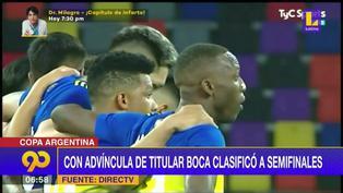 Luis Advíncula clasifica a las semifinales de la Copa Argentina con Boca Juniors de titular