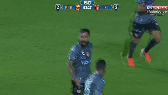 El gol de Gallegos para el 3-2 de Necaxa ante Morelia. (Sky Sports)