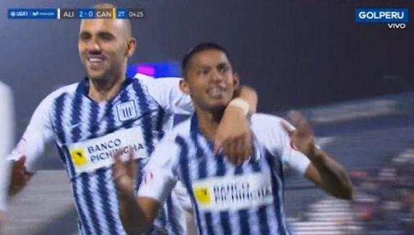 Kevin Quevedo marcó su segundo gol en el duelo frente a Cantolao. (Captura)