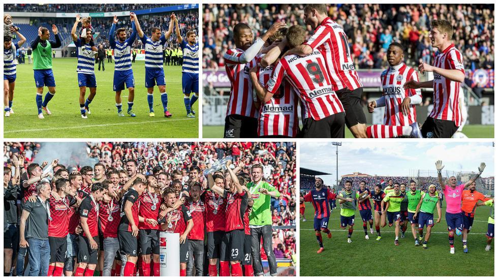 Los equipos recién ascendidos a las principales ligas de Europa.