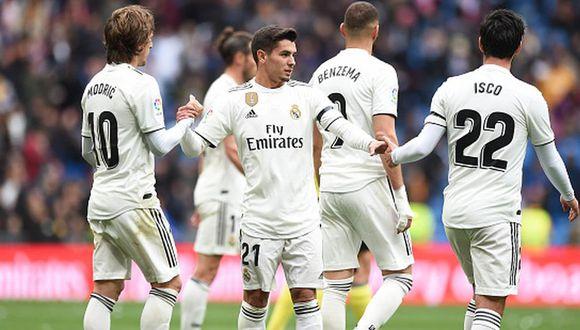 Luka Modric y Brahim Díaz fueron bajas en el último entrenamiento del Real Madrid este domingo en Montreal. (Getty)